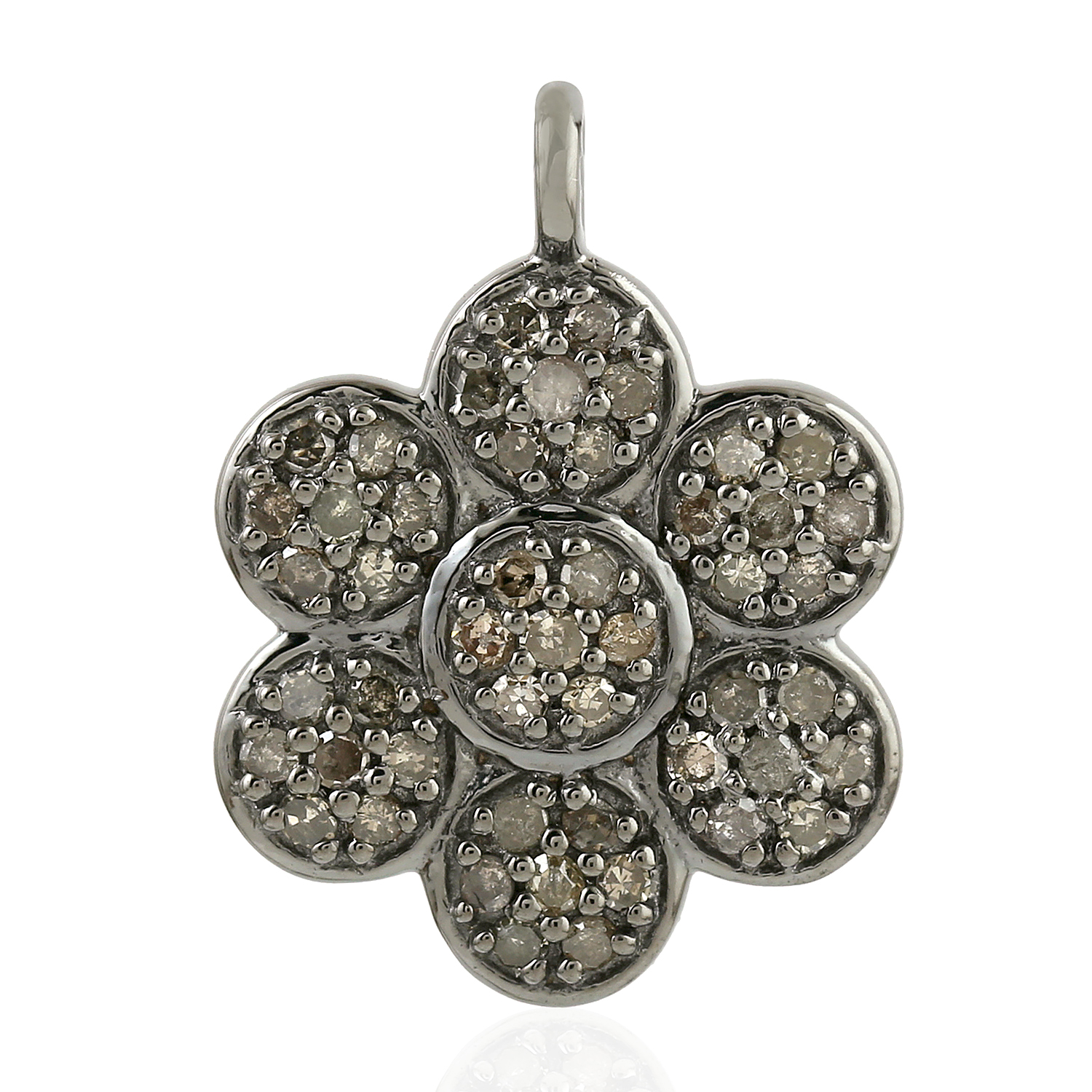 0-51-ct-Diamond-925-Sterling-Silver-Floral-Style-Pendant-Jewelry-Women-039-s-Gift